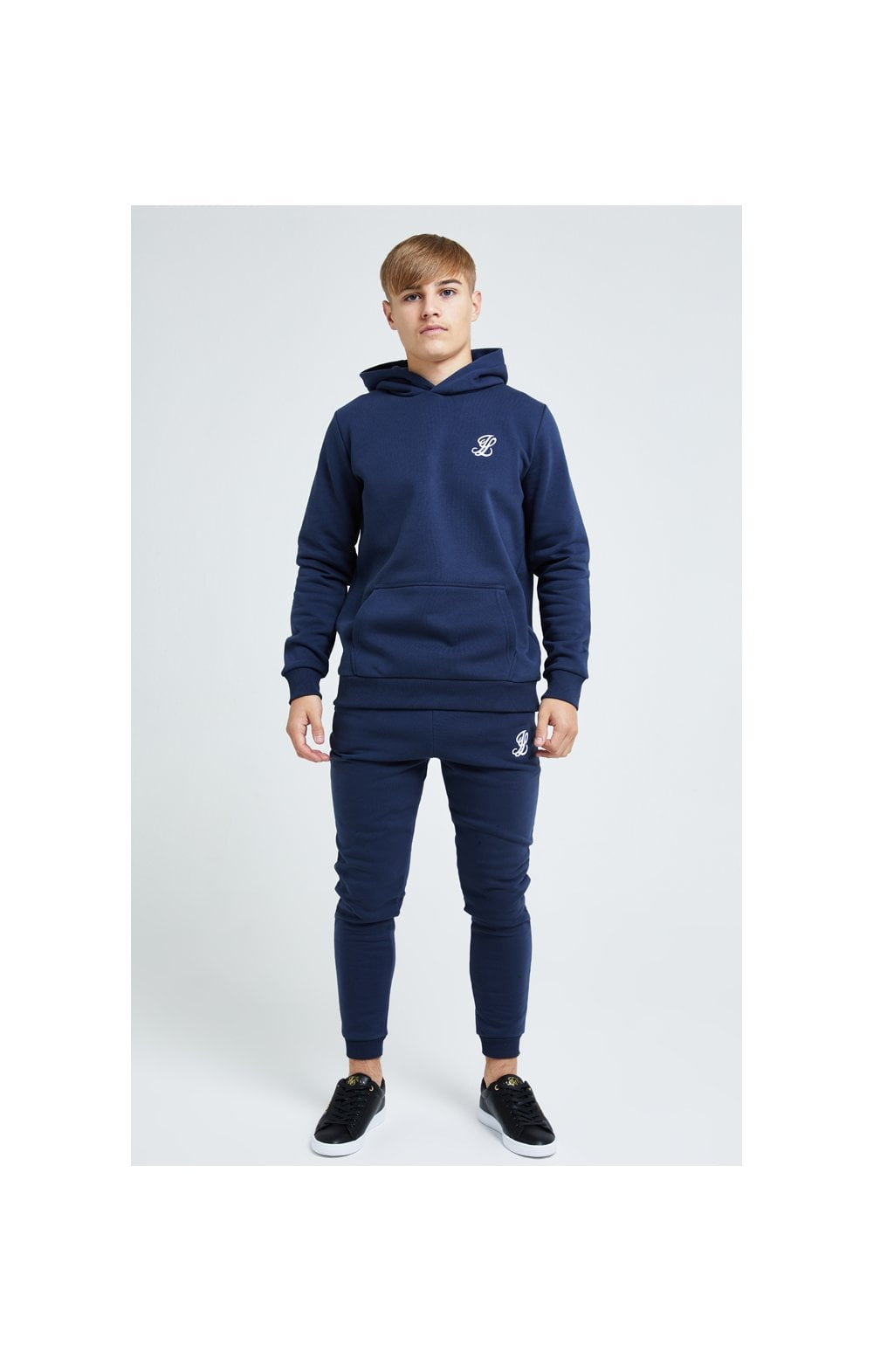 Load image into Gallery viewer, Illusive London Core Overhead Hoodie - Navy (4)