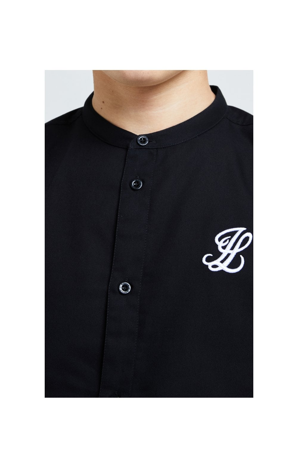 Illusive London Core Grandad Shirt - Black (1)