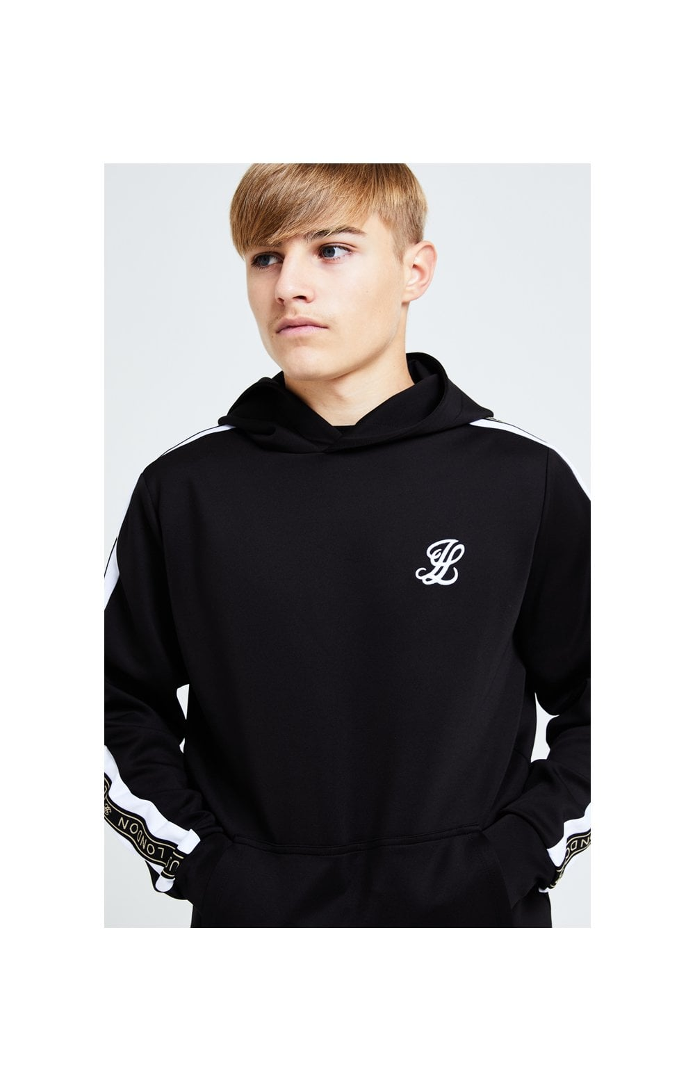 Illusive London Diverge Overhead Hoodie - Black Gold & White (1)