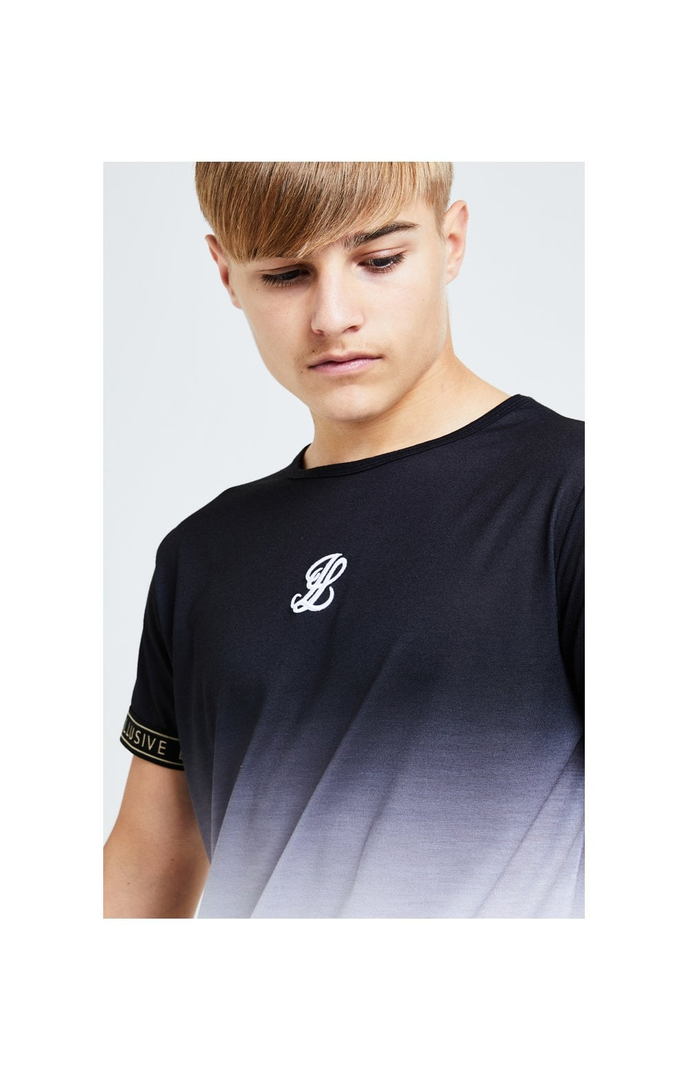 Illusive London Diverge Fade Tech Tee - Black Gold & White