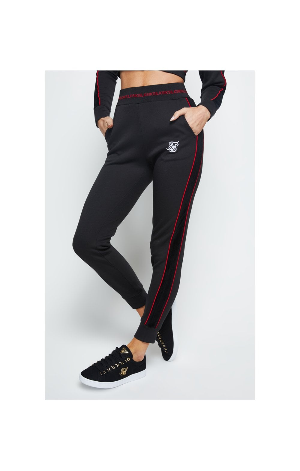 SikSilk Imperial Track Pants - Black