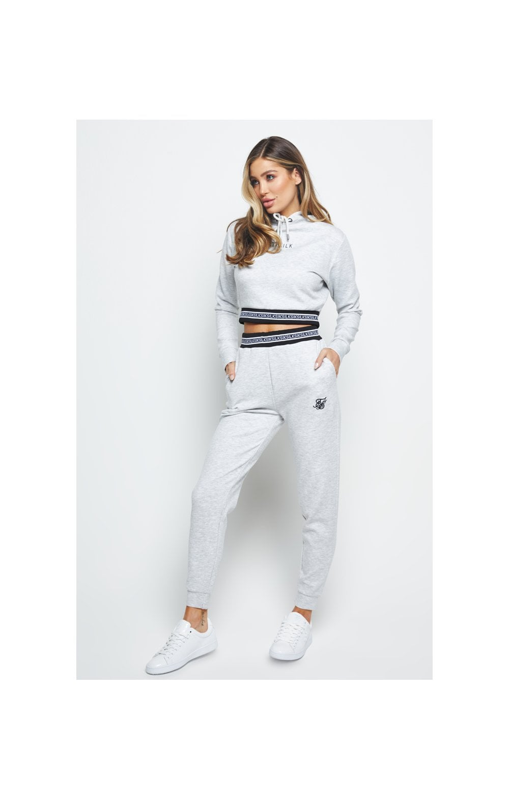 Load image into Gallery viewer, SikSilk Element Track Pants - Grey Marl (4)