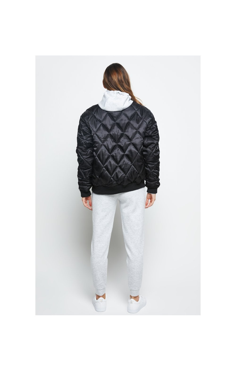 Load image into Gallery viewer, SikSilk Satin Bomber Jacket - Black (5)