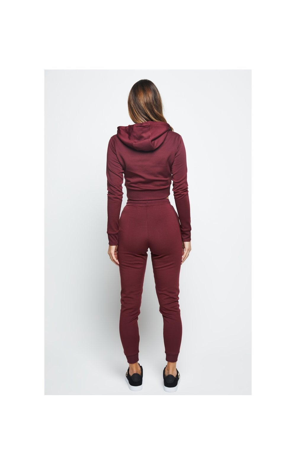 Load image into Gallery viewer, SikSilk Eyelet Mesh Track Top - Burgundy (6)