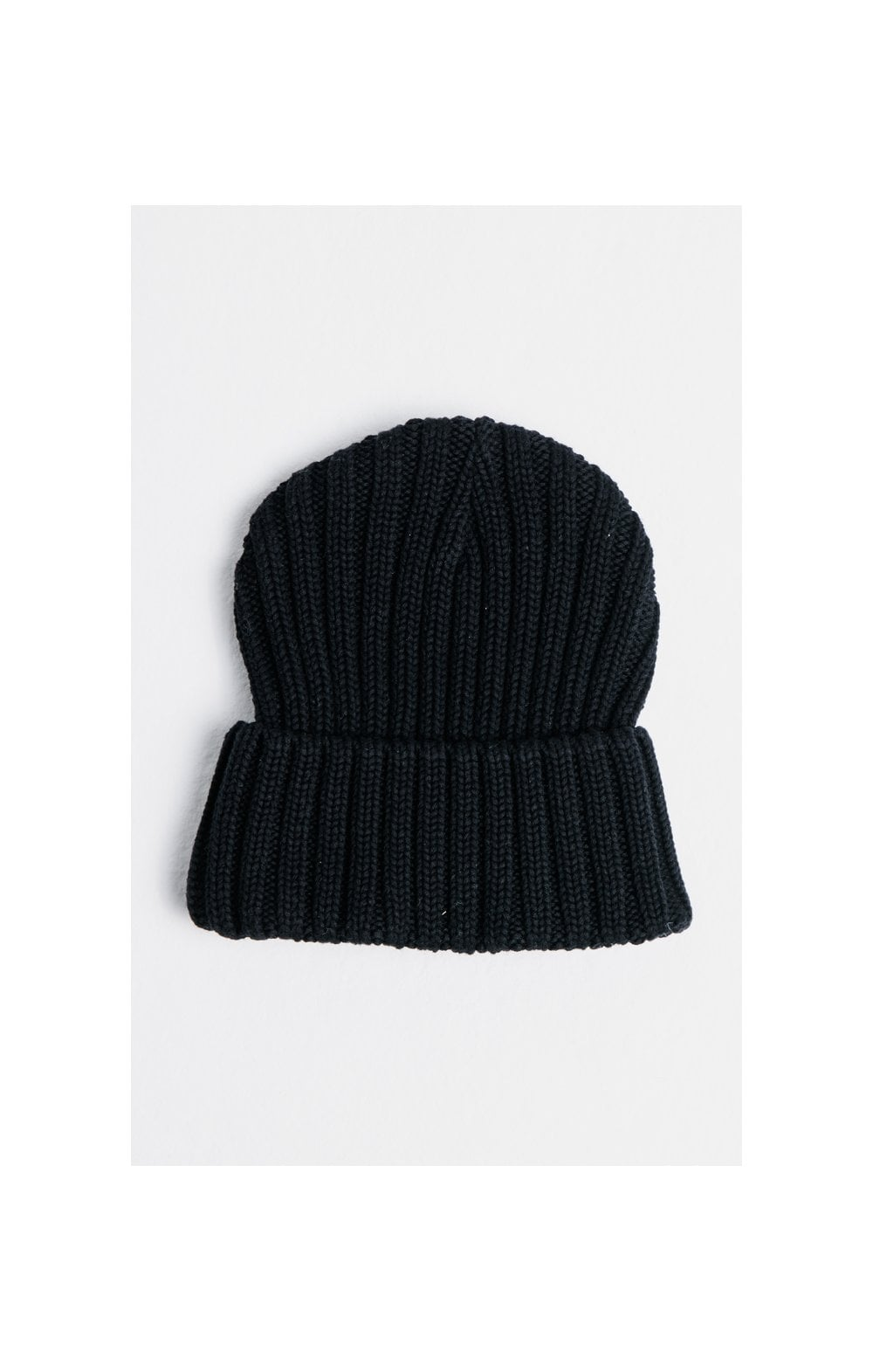 SikSilk Rib Cuff Knit Beanie - Black & Gold (1)
