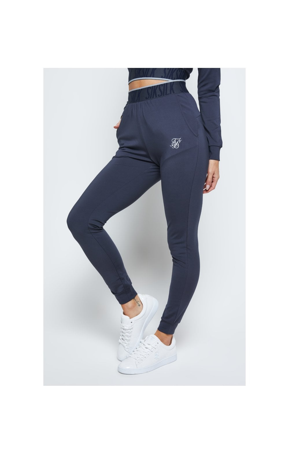 SikSilk Gravity Track Pants - Navy (1)