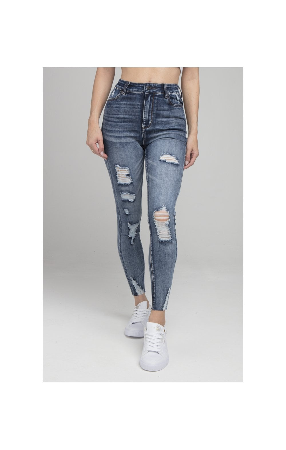 Load image into Gallery viewer, SikSilk Skinny Denims - Blue