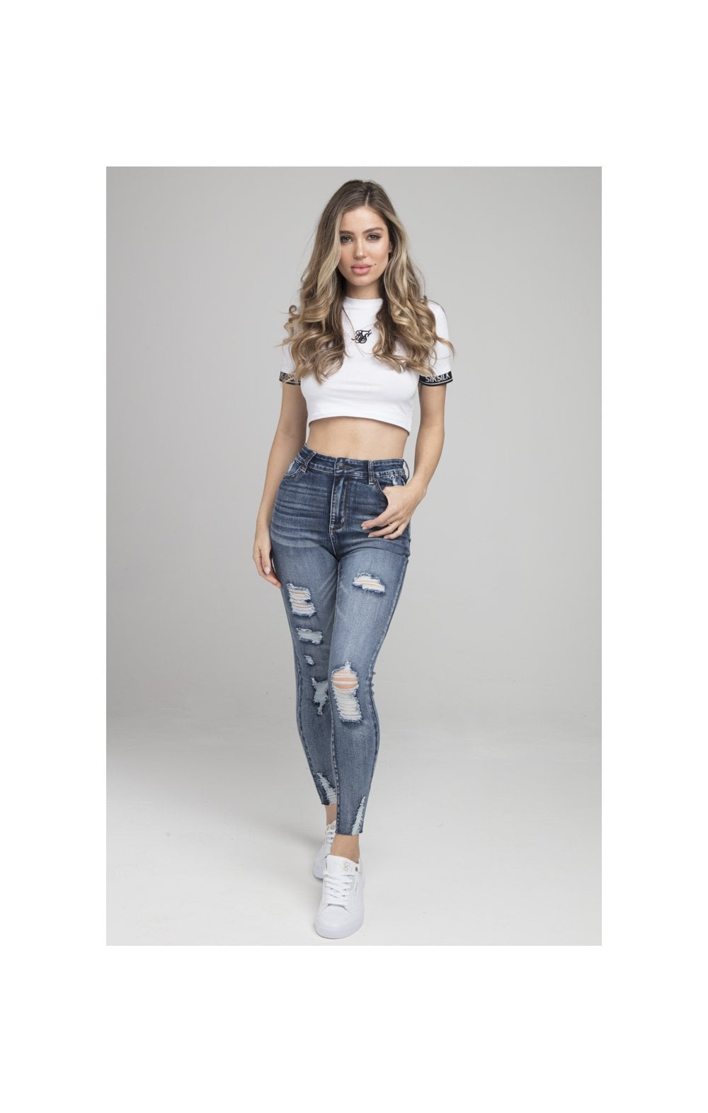 Load image into Gallery viewer, SikSilk Skinny Denims - Blue (3)
