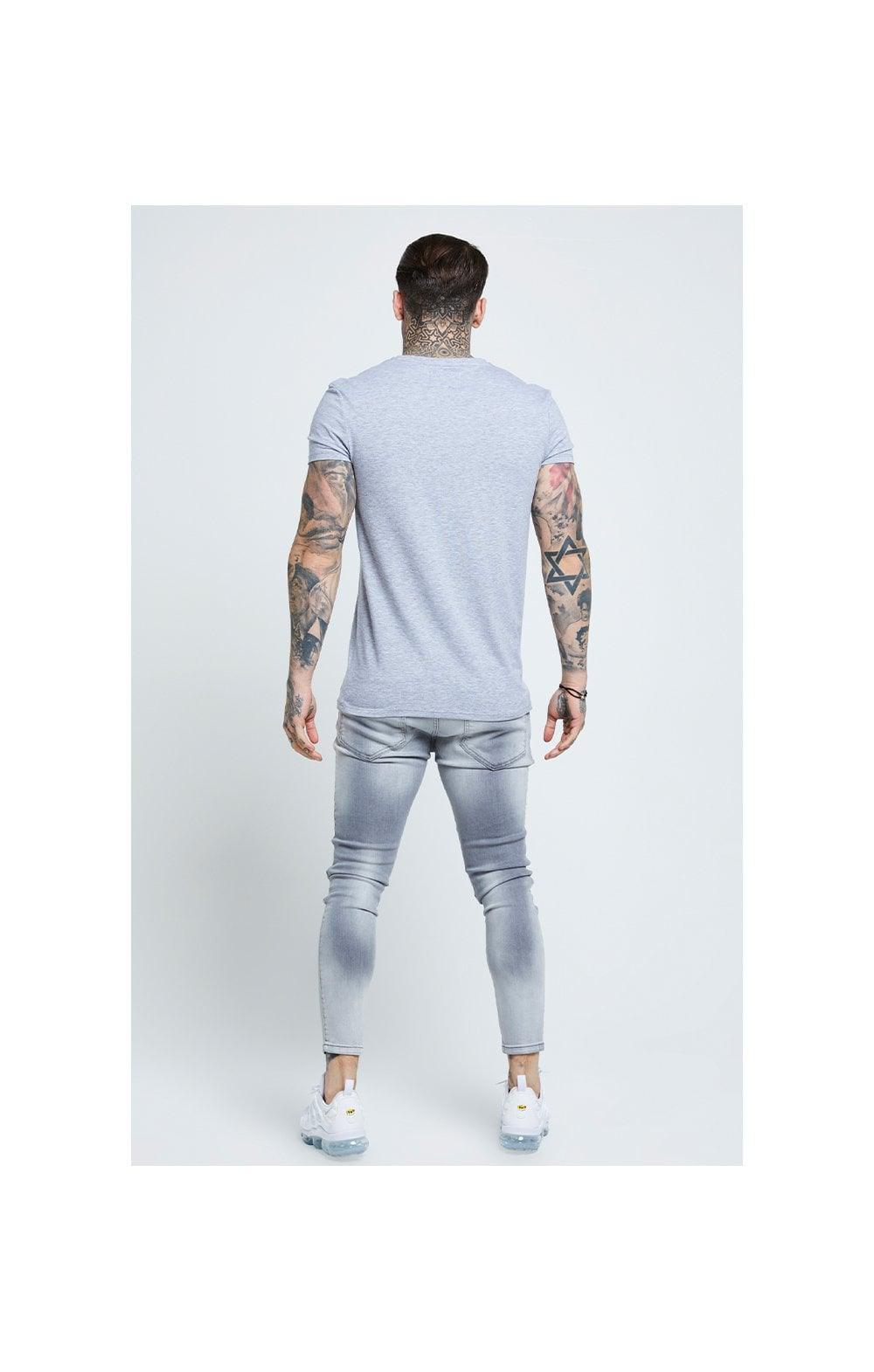 SikSilk Distressed Skinny Jeans – Washed Grey (6)