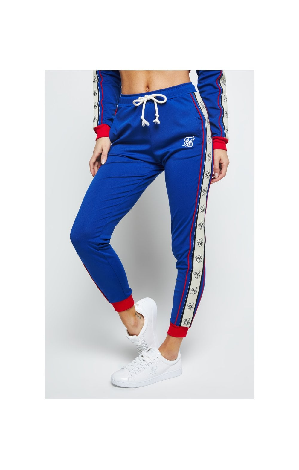 SikSilk Premium Tape Track Pants – Blue