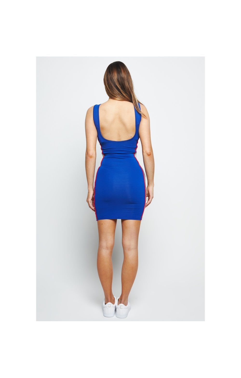 SikSilk Premium Tape Bodycon Dress – Blue (6)