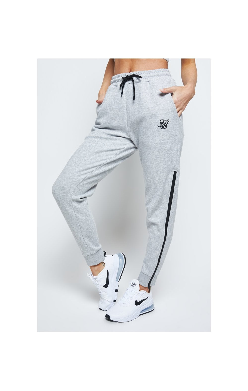 SikSilk React Track Pants - Grey