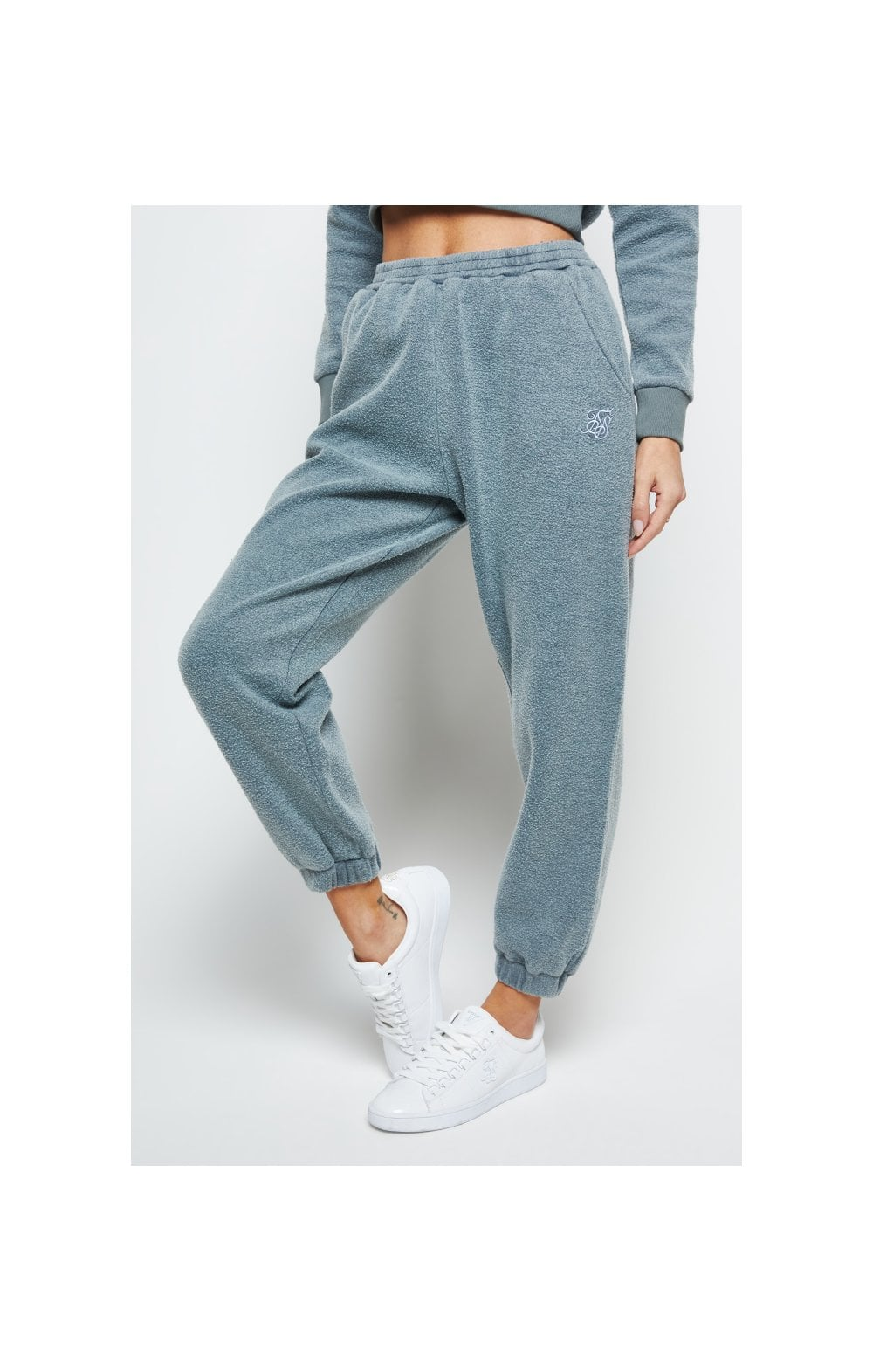 SikSilk Brushed Jogger - Washed Grey