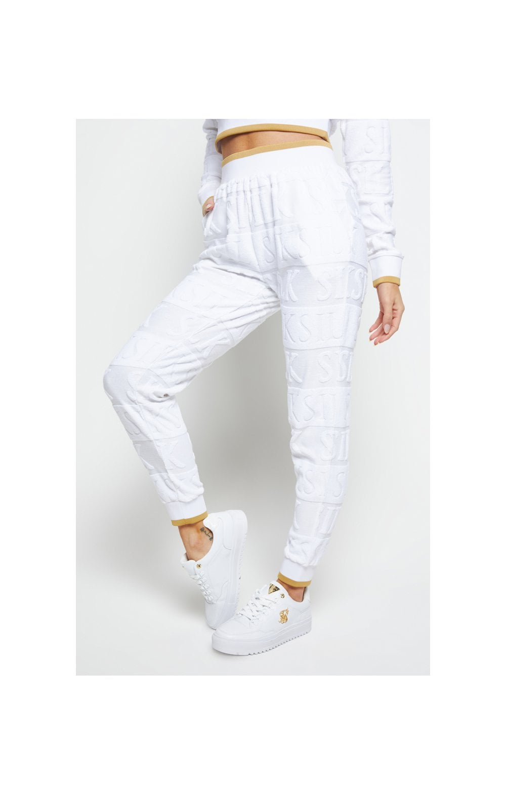 SikSilk Inverse Track Pants - White