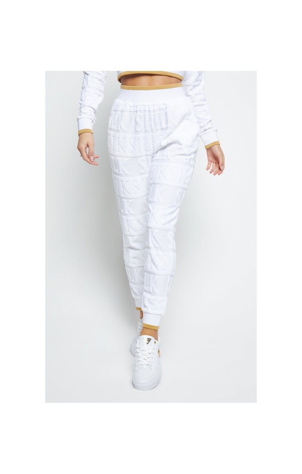 SikSilk Inverse Track Pants - White (1)