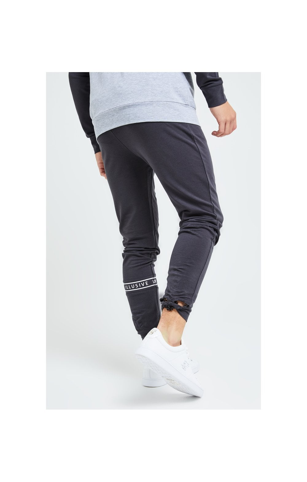 Illusive London Revere Jogger - Dark Grey & Light Grey Marl (3)