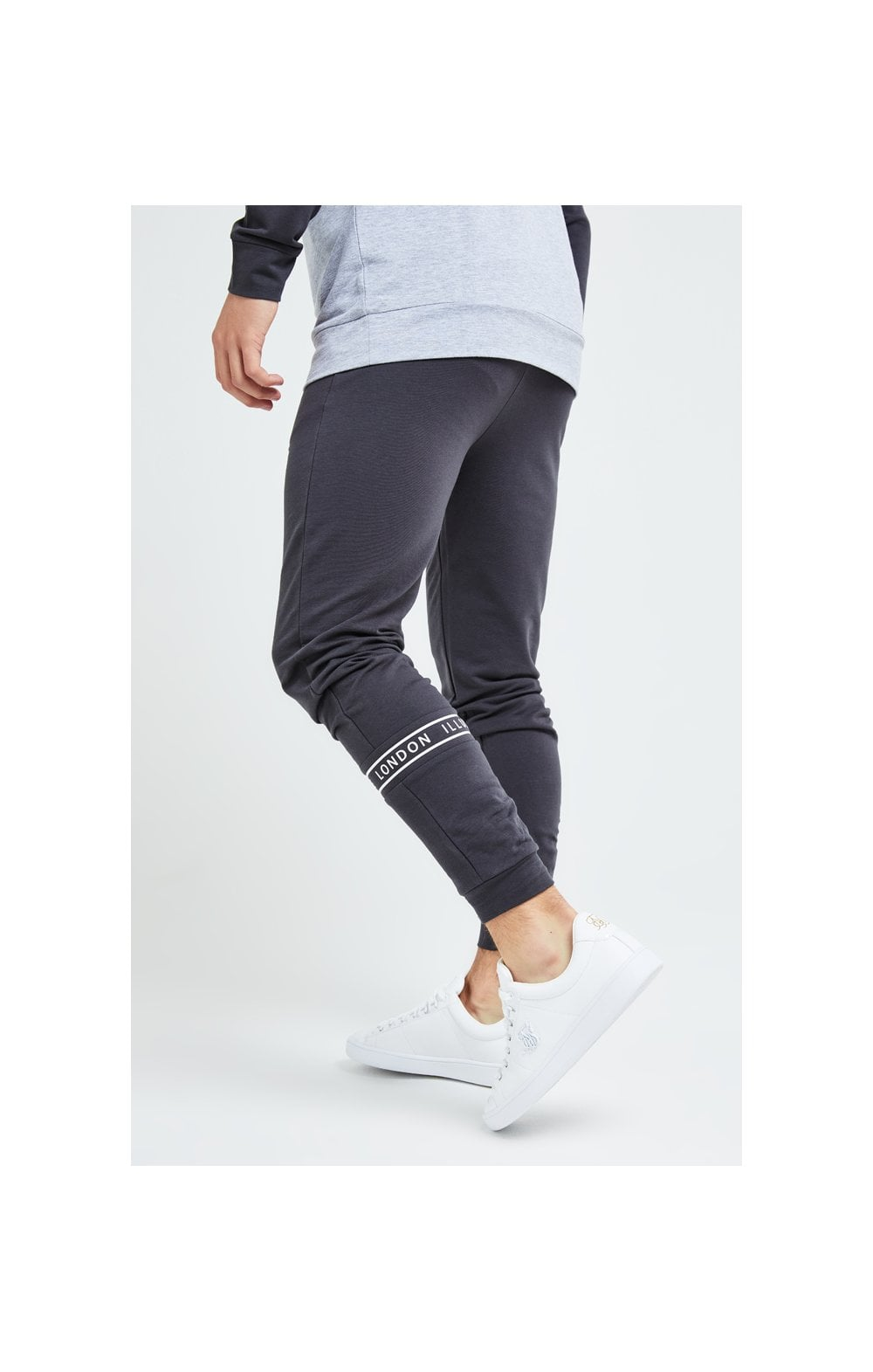 Illusive London Revere Jogger - Dark Grey & Light Grey Marl (2)