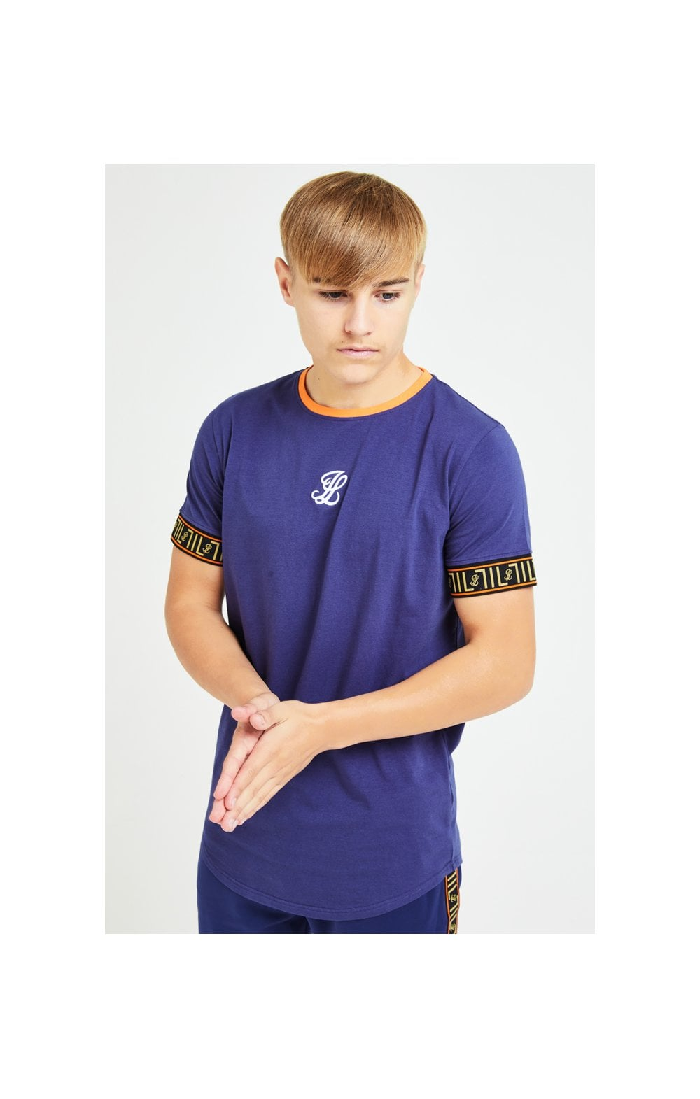 Illusive London Patriot Tech Tee - Blue & Orange (1)