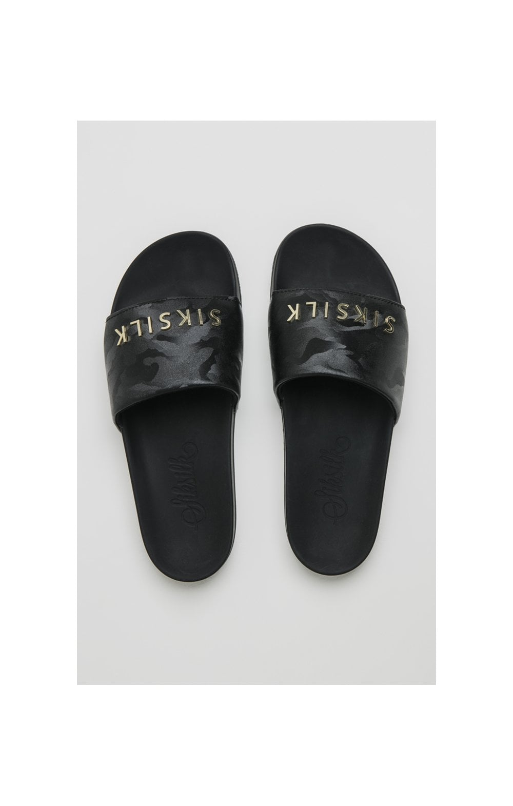 SikSilk Alpha Camo Slides - Black (2)
