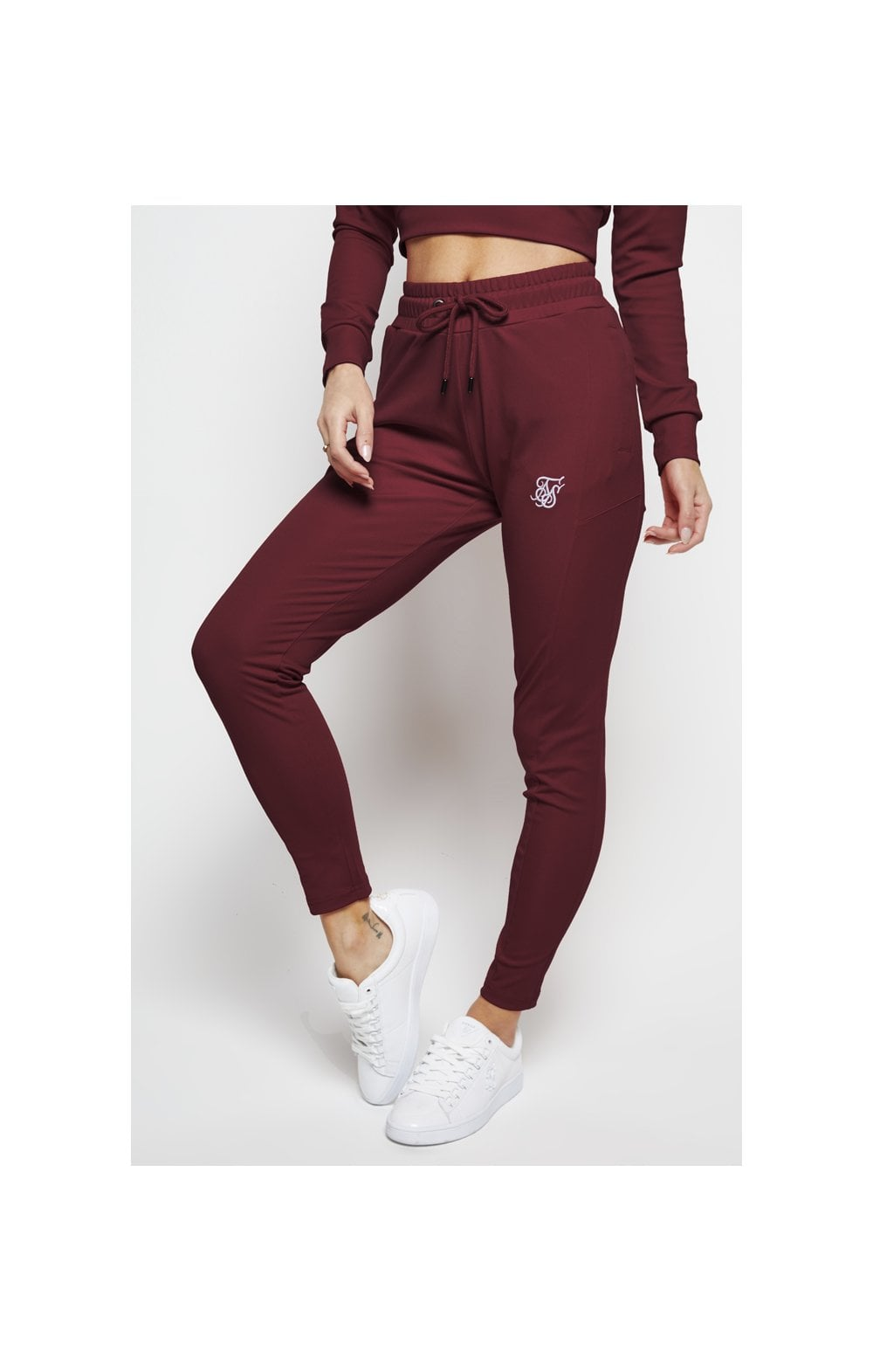 SikSilk Zonal Track Pants – Burgundy