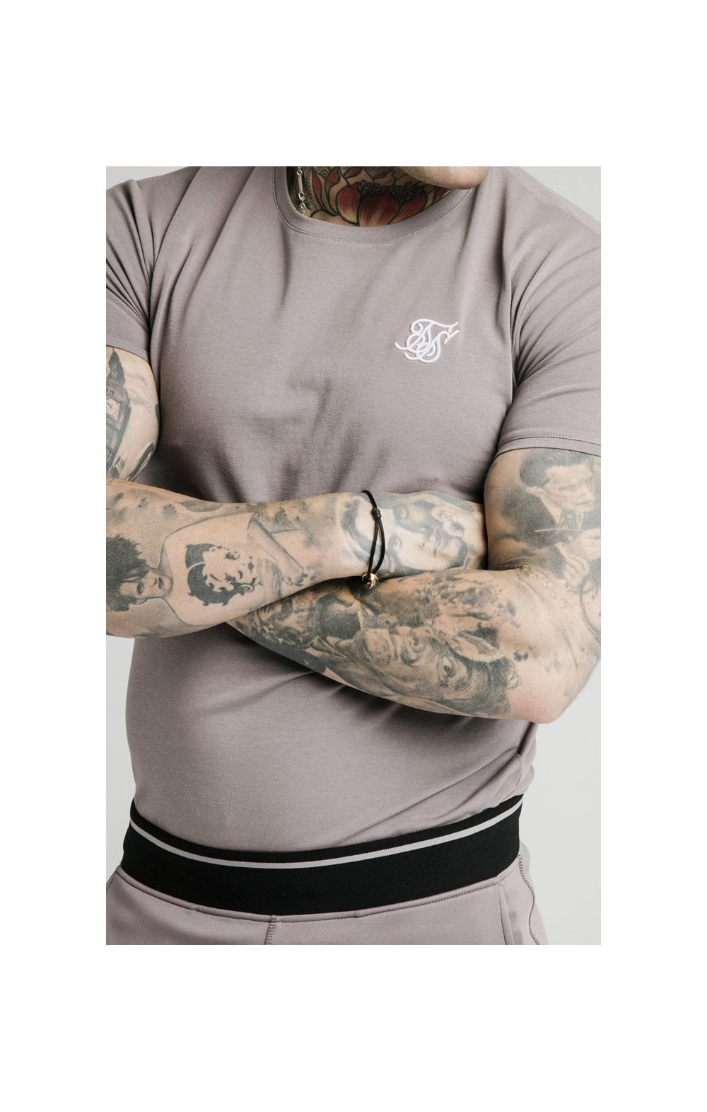 Load image into Gallery viewer, SikSilk S/S Gym Tee – Grey (1)