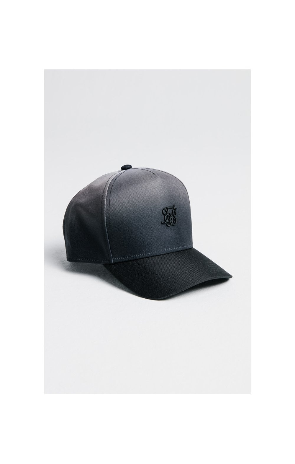 SikSilk Full Fade Trucker - Black & Grey