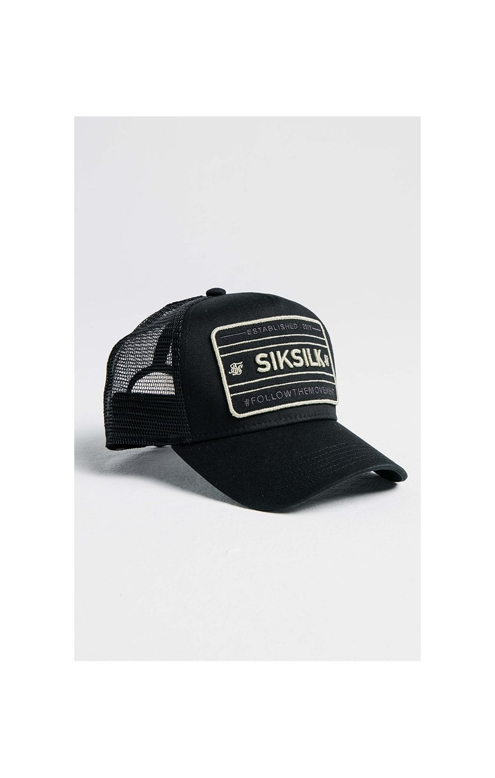 SikSilk Mesh Movement Trucker - Black & Gold