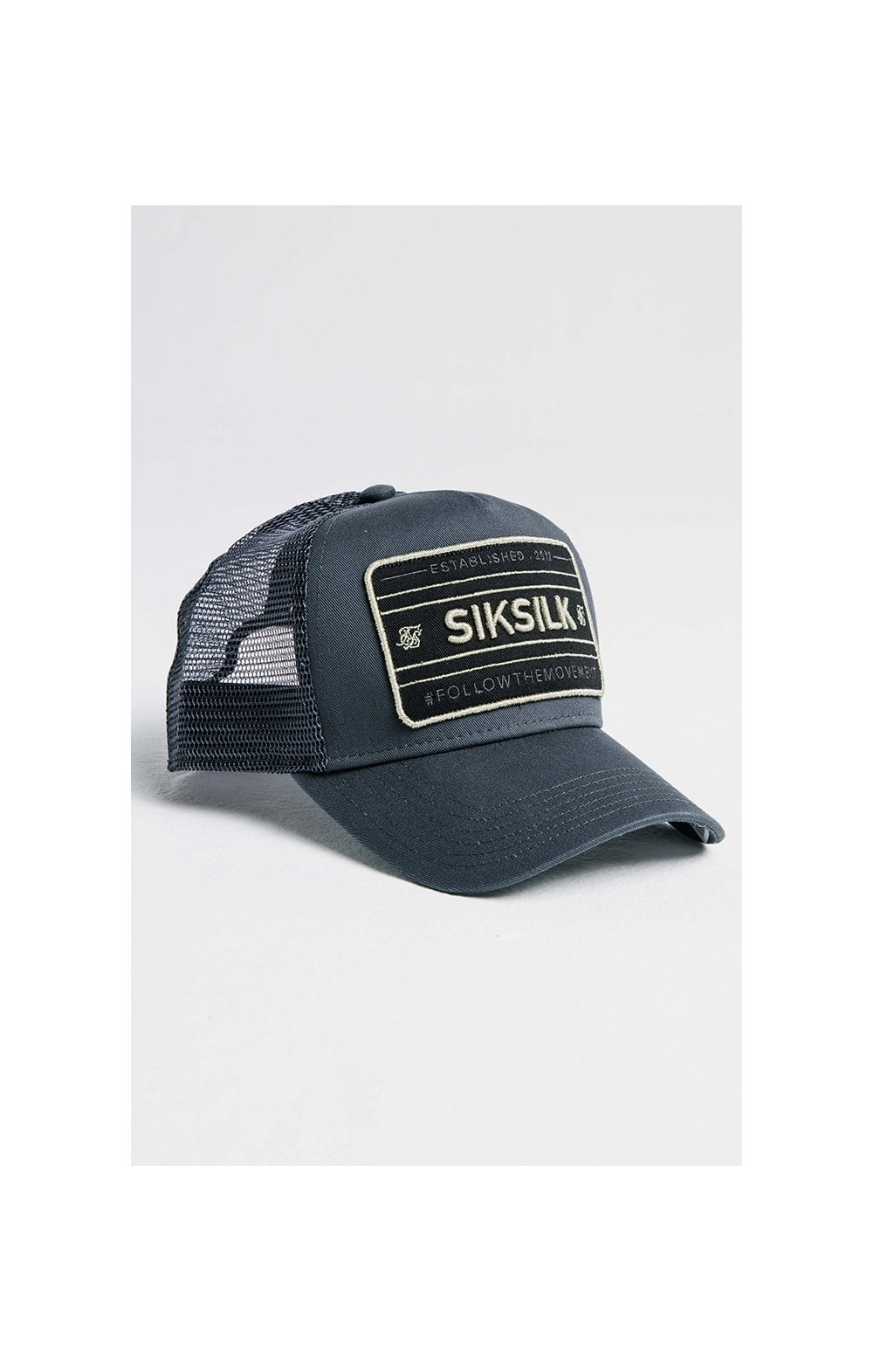 SikSilk Mesh Movement Trucker - Grey & Gold