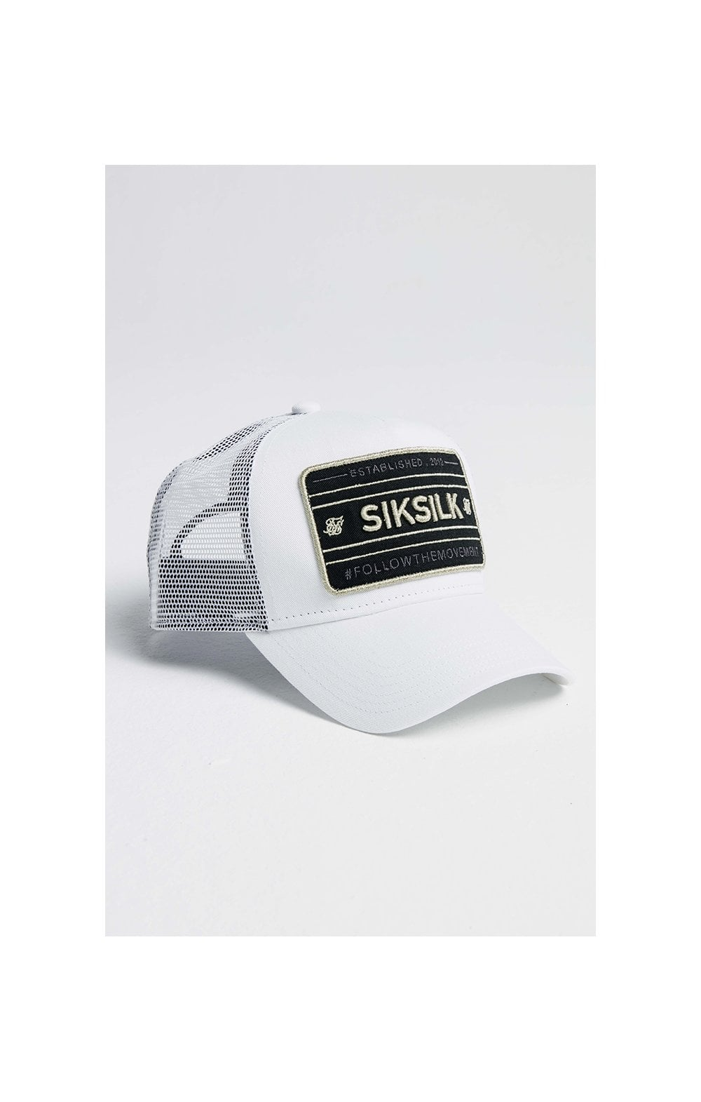 SikSilk Mesh Movement Trucker - White & Gold