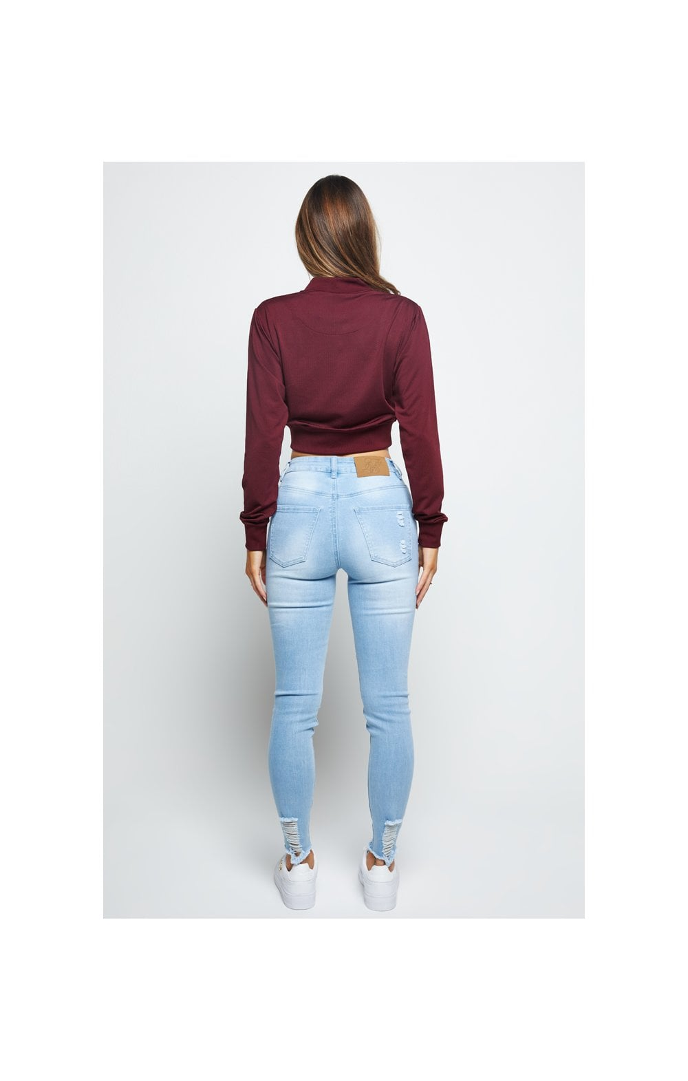 Load image into Gallery viewer, SikSilk Mesh Cropped Bomber - Burgundy (4)