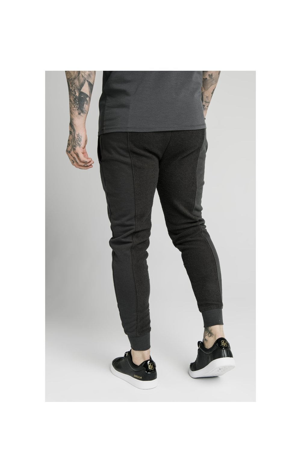 SikSilk Half & Half Fitted Jogger - Washed Grey (2)