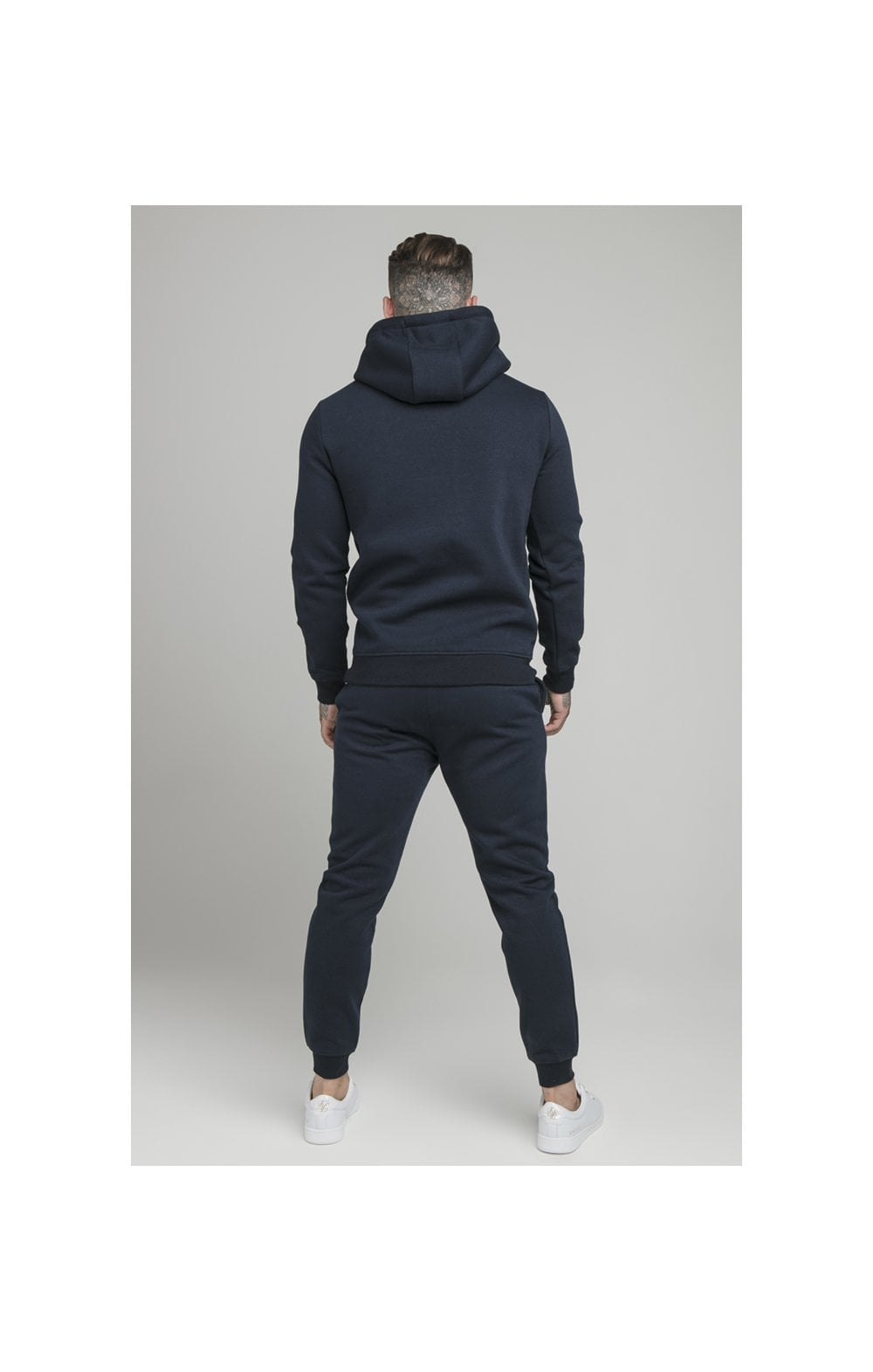 Load image into Gallery viewer, SikSilk Muscle Fit Overhead Hoodie - Navy (5)
