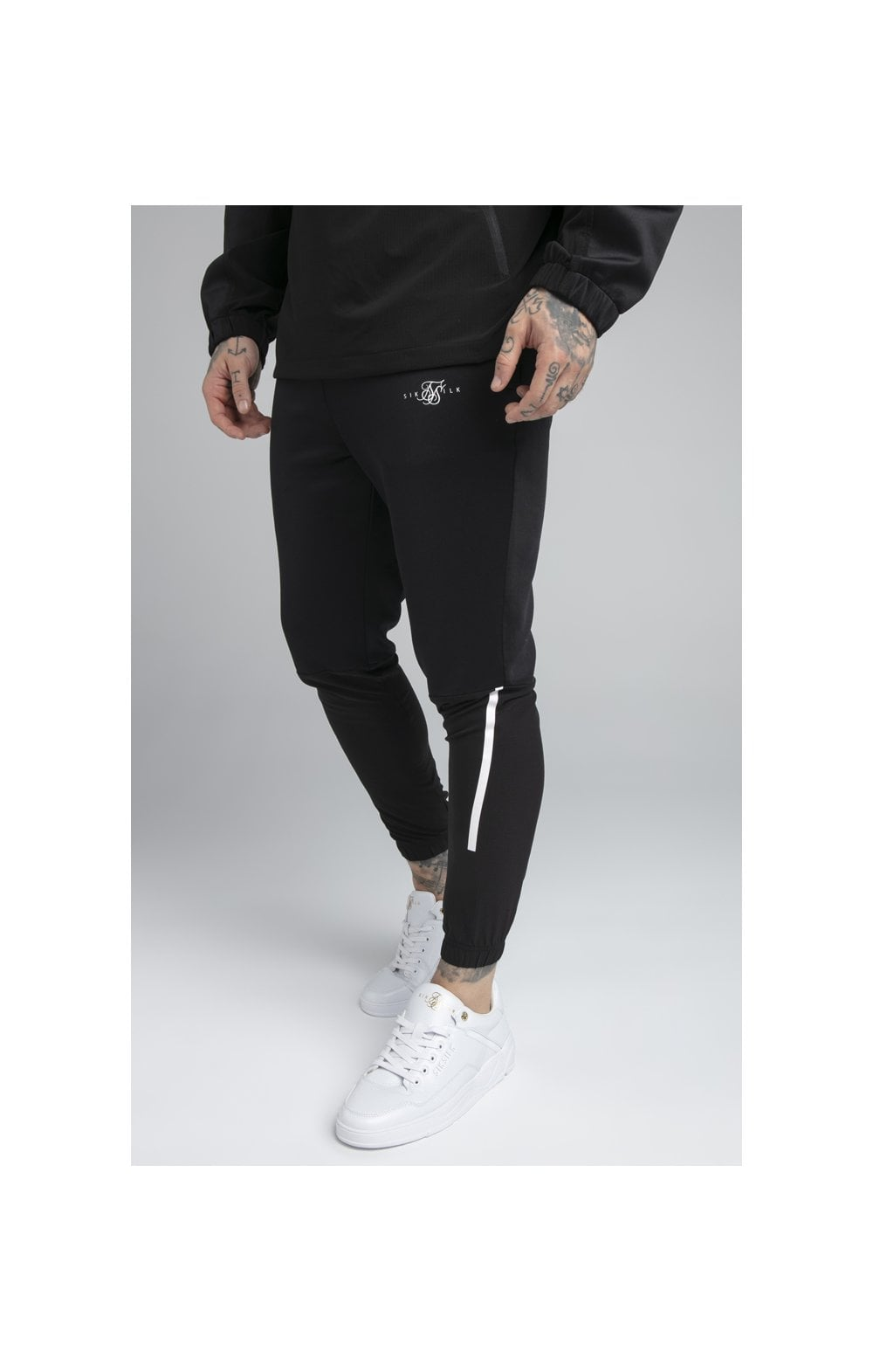 SikSilk Tranquil Training Pants - Black & Grey