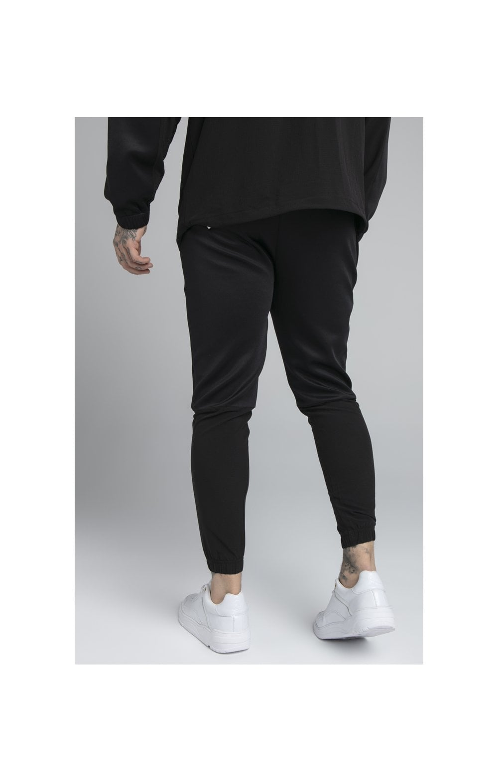 SikSilk Tranquil Training Pants - Black & Grey (1)