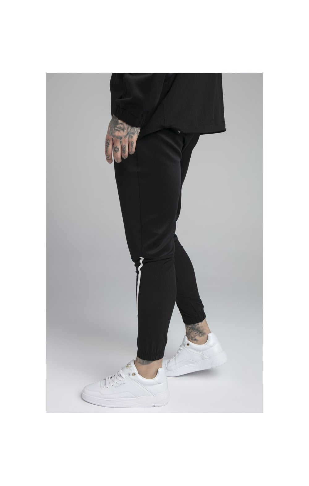 SikSilk Tranquil Training Pants - Black & Grey (2)