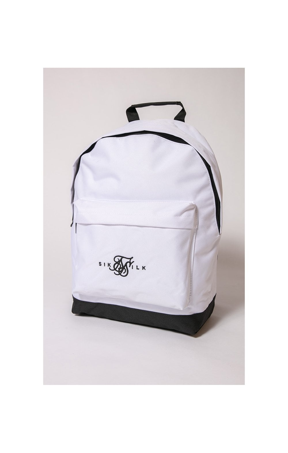 SikSilk Dual Logo Backpack – White & Black (2)