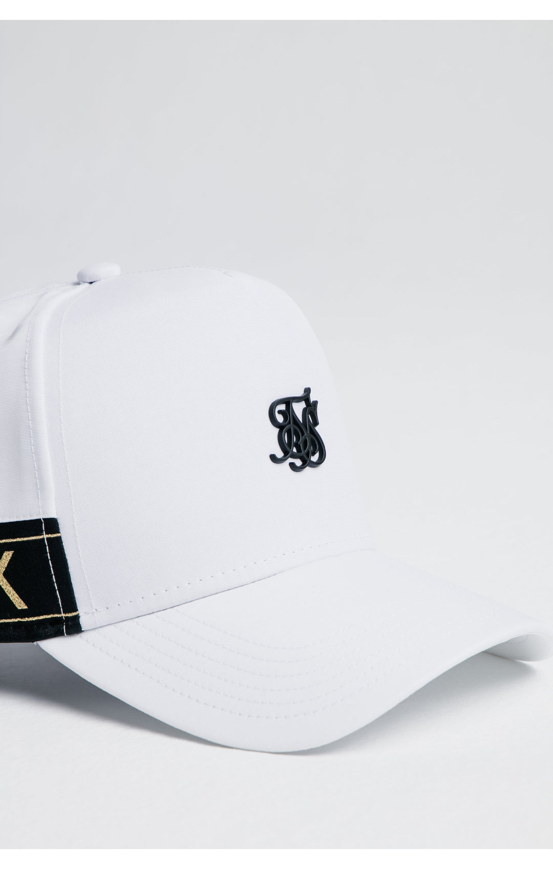 SikSilk Nylon Tape trucker - White & Gold