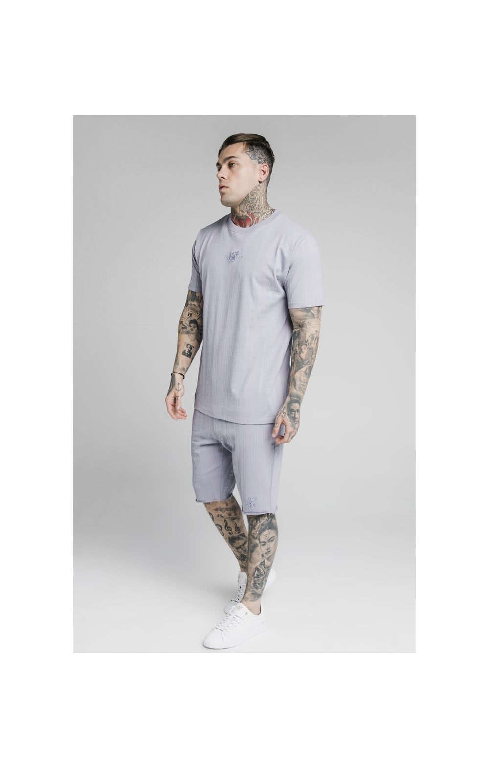 Load image into Gallery viewer, SikSilk Pastel Gym Shorts - Grey (2)