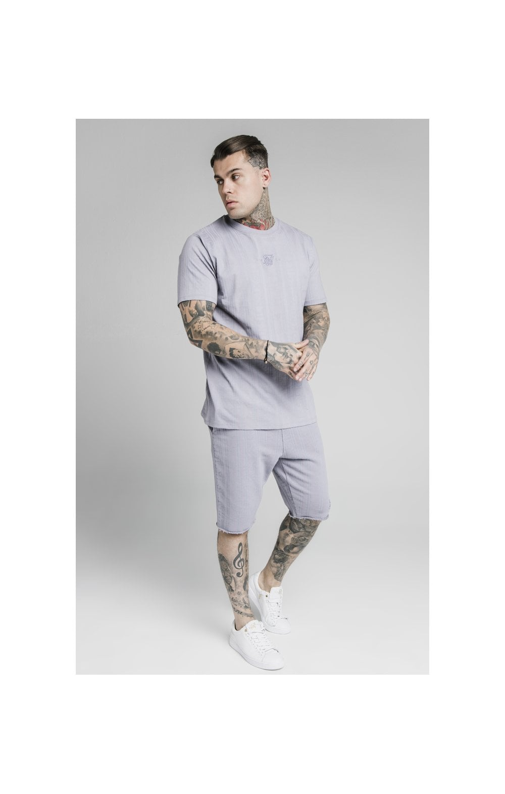 Load image into Gallery viewer, SikSilk Pastel Gym Shorts - Grey (3)