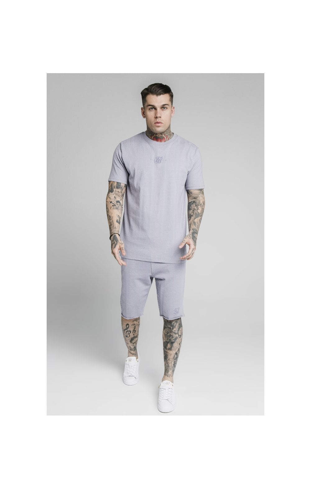 Load image into Gallery viewer, SikSilk Pastel Gym Shorts - Grey (5)