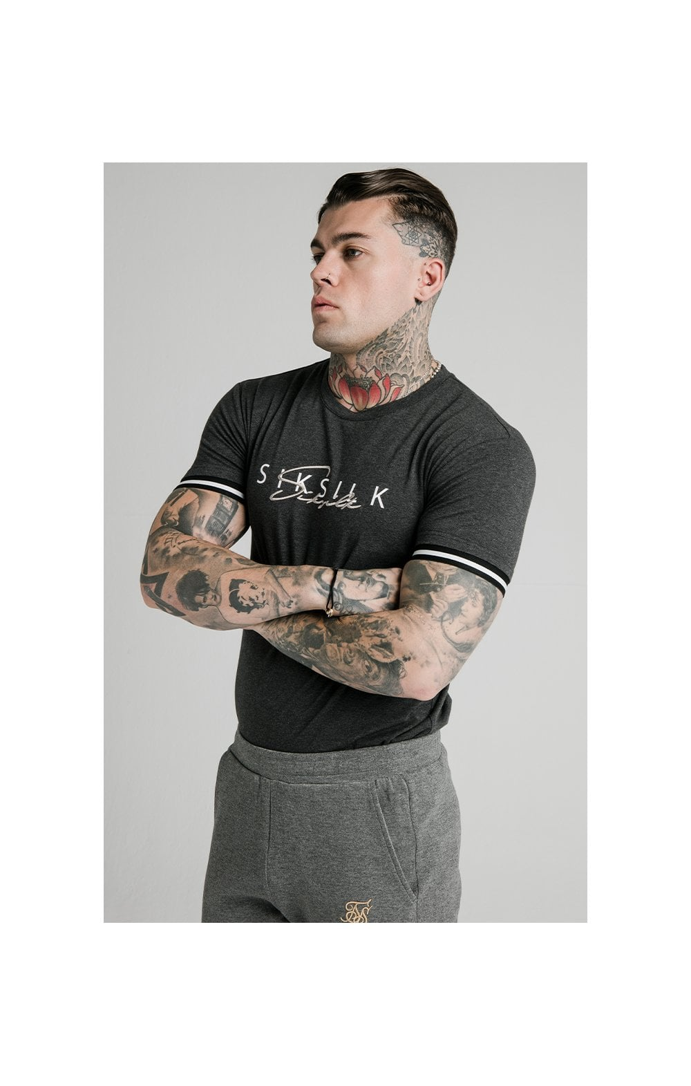 SikSilk S/S Signature Tee - Grey
