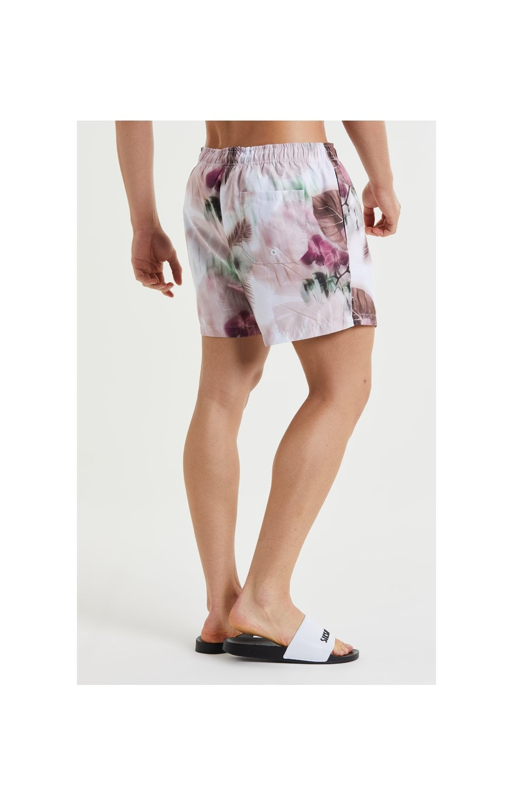 Load image into Gallery viewer, SikSilk Floral Blur Swim Shorts - Pink & White (2)