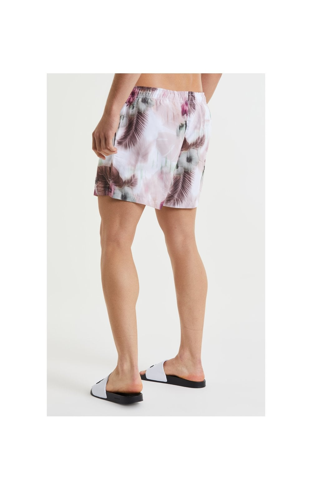 Load image into Gallery viewer, SikSilk Floral Blur Swim Shorts - Pink & White (3)