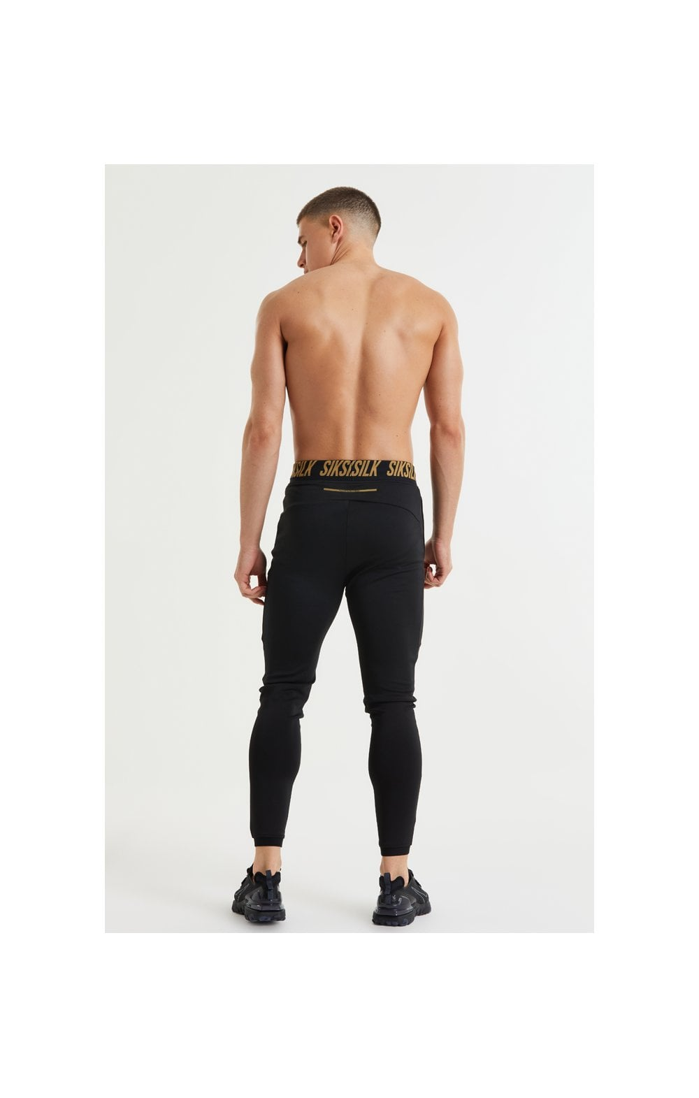 Load image into Gallery viewer, SikSilk Performance Agility Pants – Black & Gold (6)