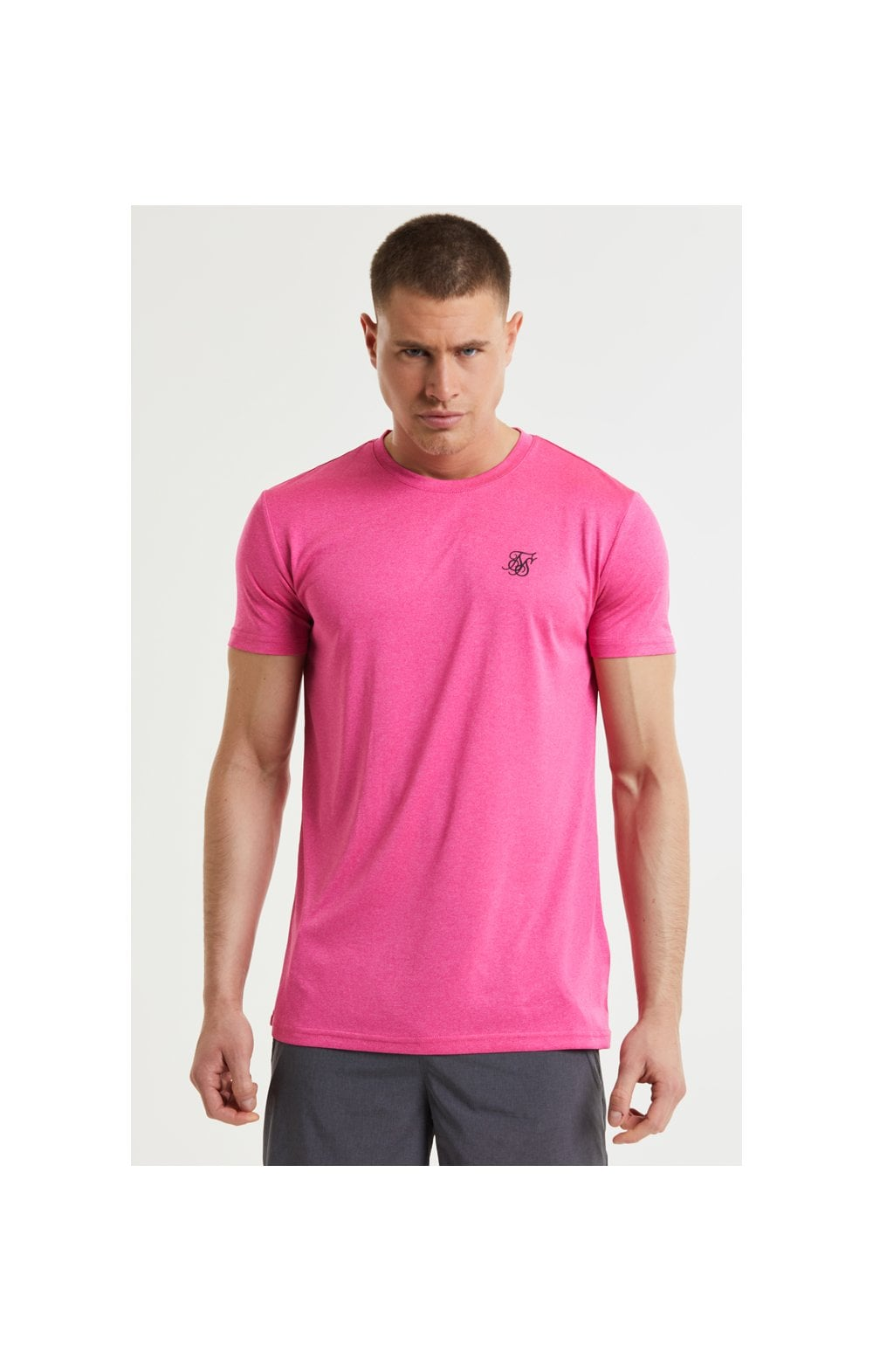 SikSilk Core Poly Tee - Pink (1)