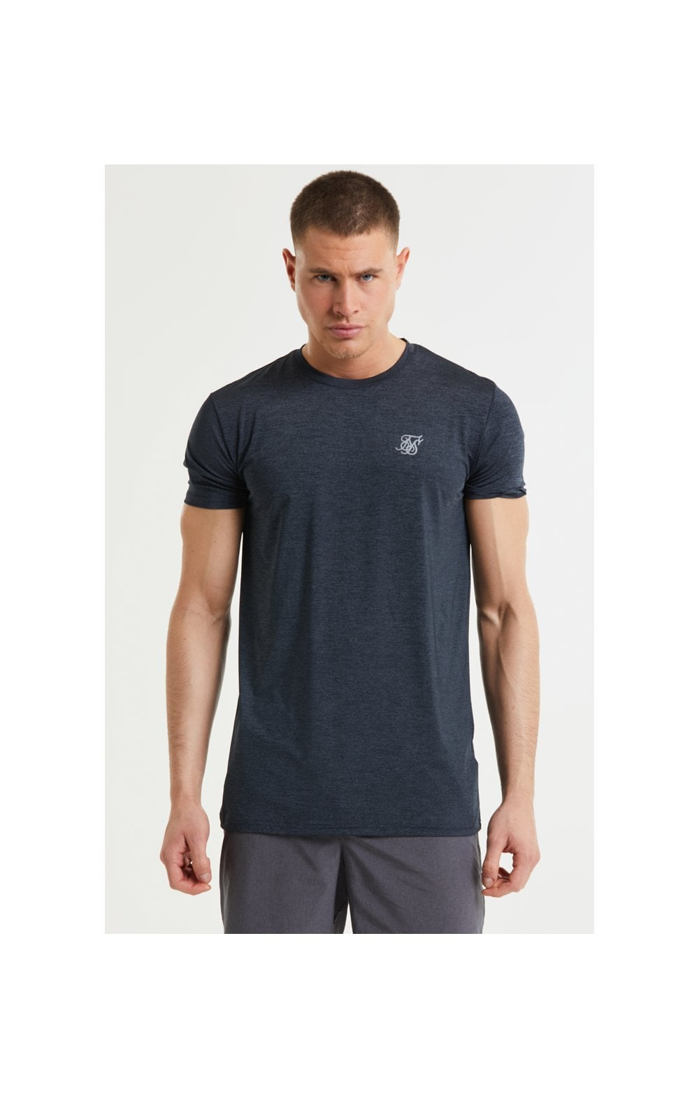 SikSilk Core Poly Tee - Black Marl