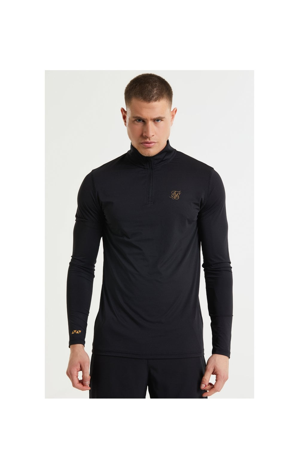 SikSilk Pressure Zip Funnel Neck - Black
