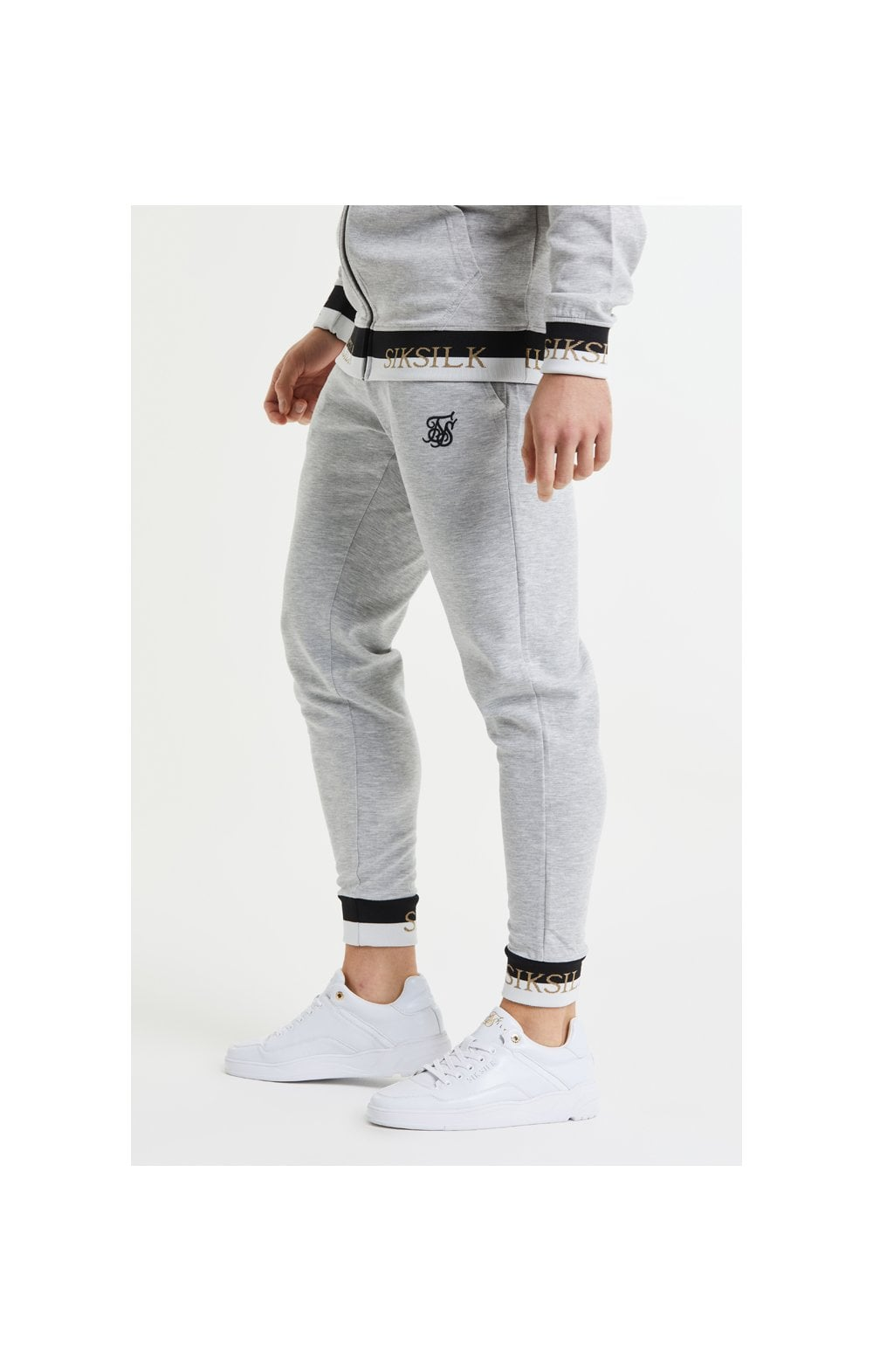 SikSilk Deluxe Fitted Jogger - Grey Marl (2)