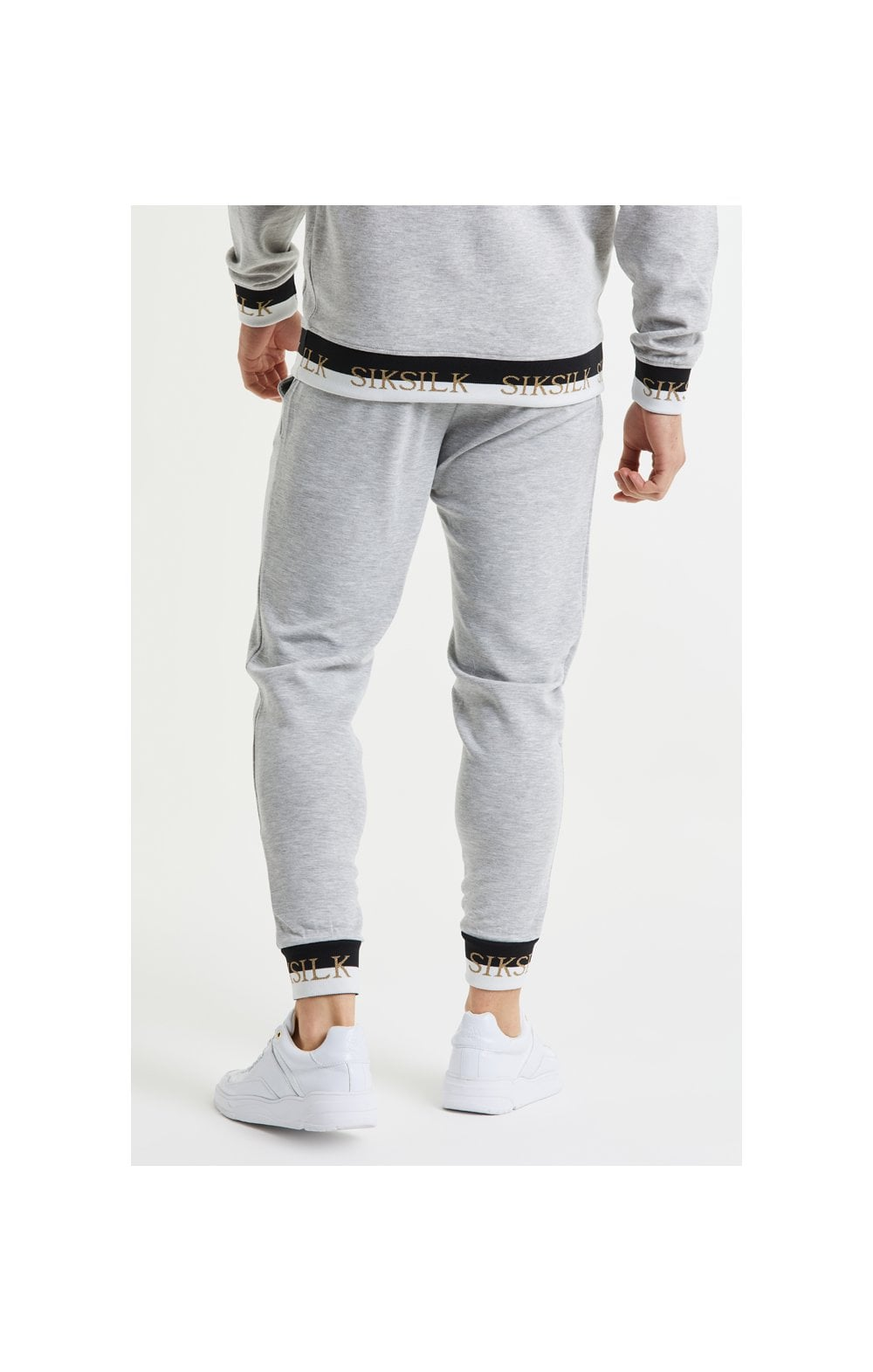 SikSilk Deluxe Fitted Jogger - Grey Marl (3)
