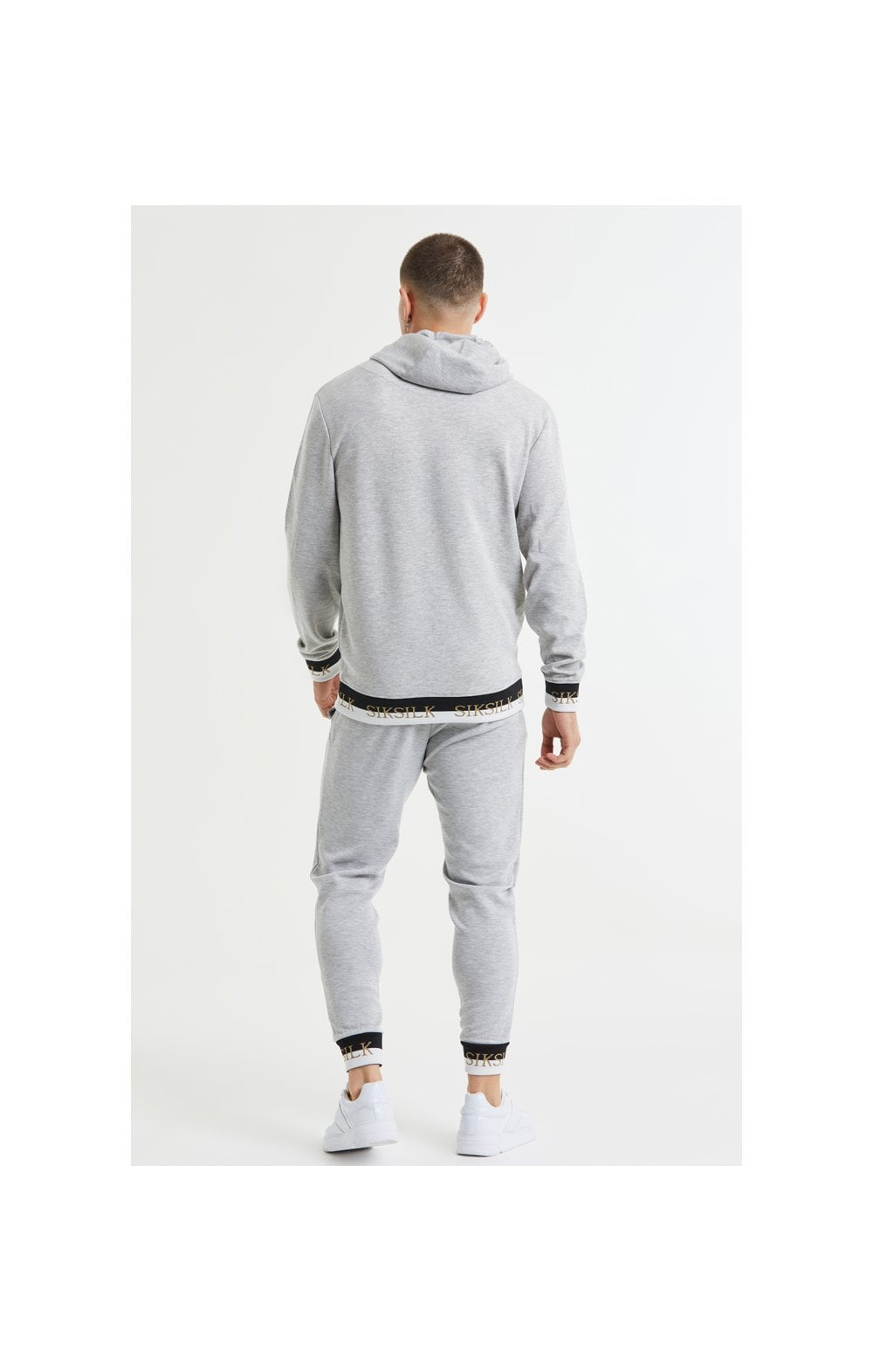 SikSilk Deluxe Fitted Jogger - Grey Marl (6)